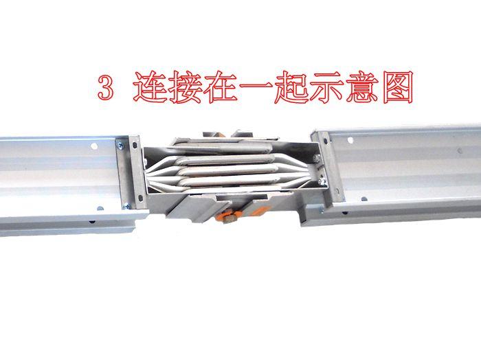 母排的连接,用具有高绝缘、耐电弧、阻燃的高强度绝缘板做连接附件,用带有绝缘套管的螺栓紧固。按规范要求,为满足母线的搭接面积,螺栓孔与螺栓之间缝隙较小,由于母线槽螺栓增加了绝缘套管,使缝隙更为狭窄。因此两段母线槽主母排连接时,两段母线轴线要严格保持在一条中心线上,并使两段母线槽的母排及绝缘板的螺栓孔完全对齐,穿上螺栓上紧时,每个螺栓要依次用力均匀。此目的是为防止螺栓上的绝缘套管在安装过程中避免受到剪切力的作用而导致损伤。笔者在工程施工管理过程中,发现过几起由于螺栓绝缘套管受力损伤造成母线槽绝缘降低的情况。接